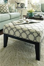 Upholstered Rectangular Accent Ottoman