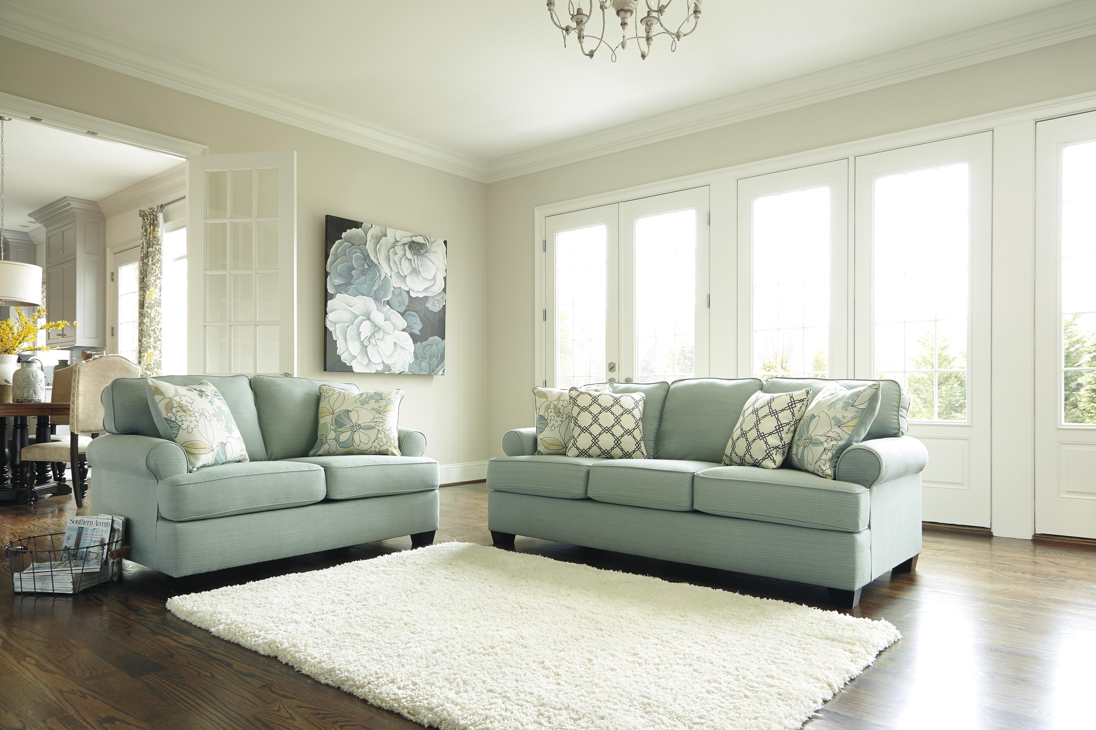 Signature Design by Ashley Daystar - Seafoam Stationary Living Room Group - Item Number: 28200 Living Room Group 1