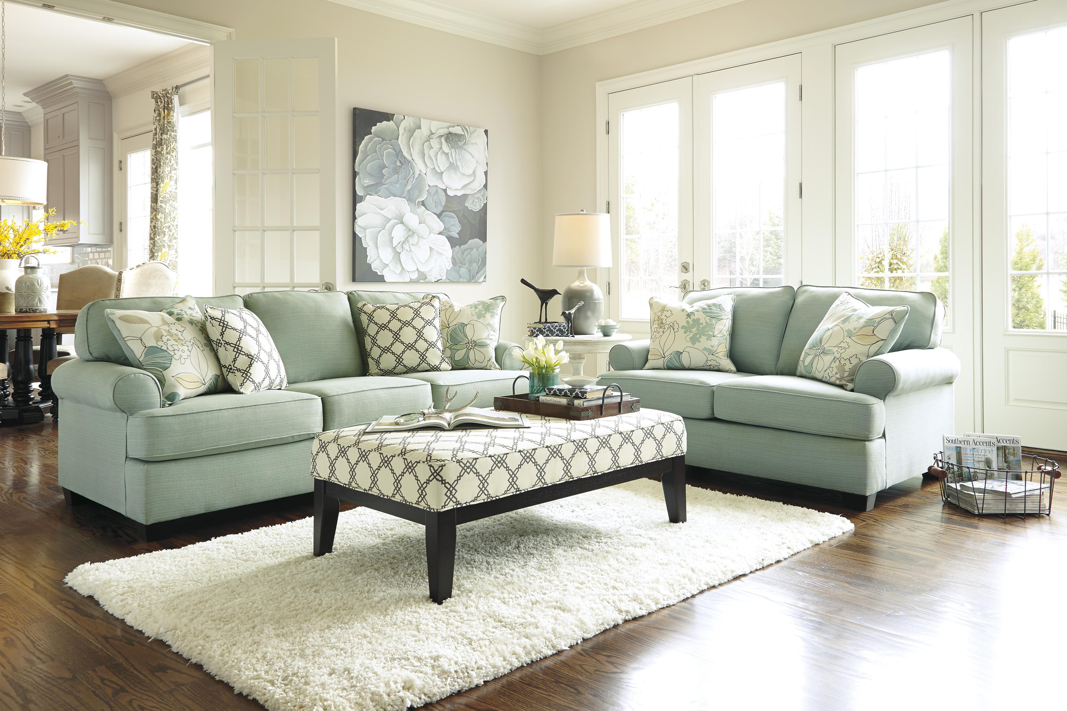 Signature Design by Ashley Daystar - Seafoam Stationary Living Room Group - Item Number: 28200 Living Room Group 3