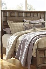 Wood Panel Headboard with Alternating Scalloped Blocks