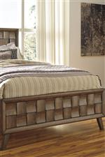 Wood Panel Footboard with Alternating Scalloped Blocks