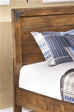 Rustic Appeal of Panel Bed