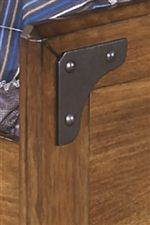 Industrial Faux Metal Brackets