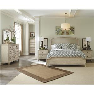 Signature Design by Ashley Demarlos California King Upholstered Panel Bed
