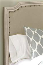 Upholstered Panel Headboard with Nail Head Accent Trim