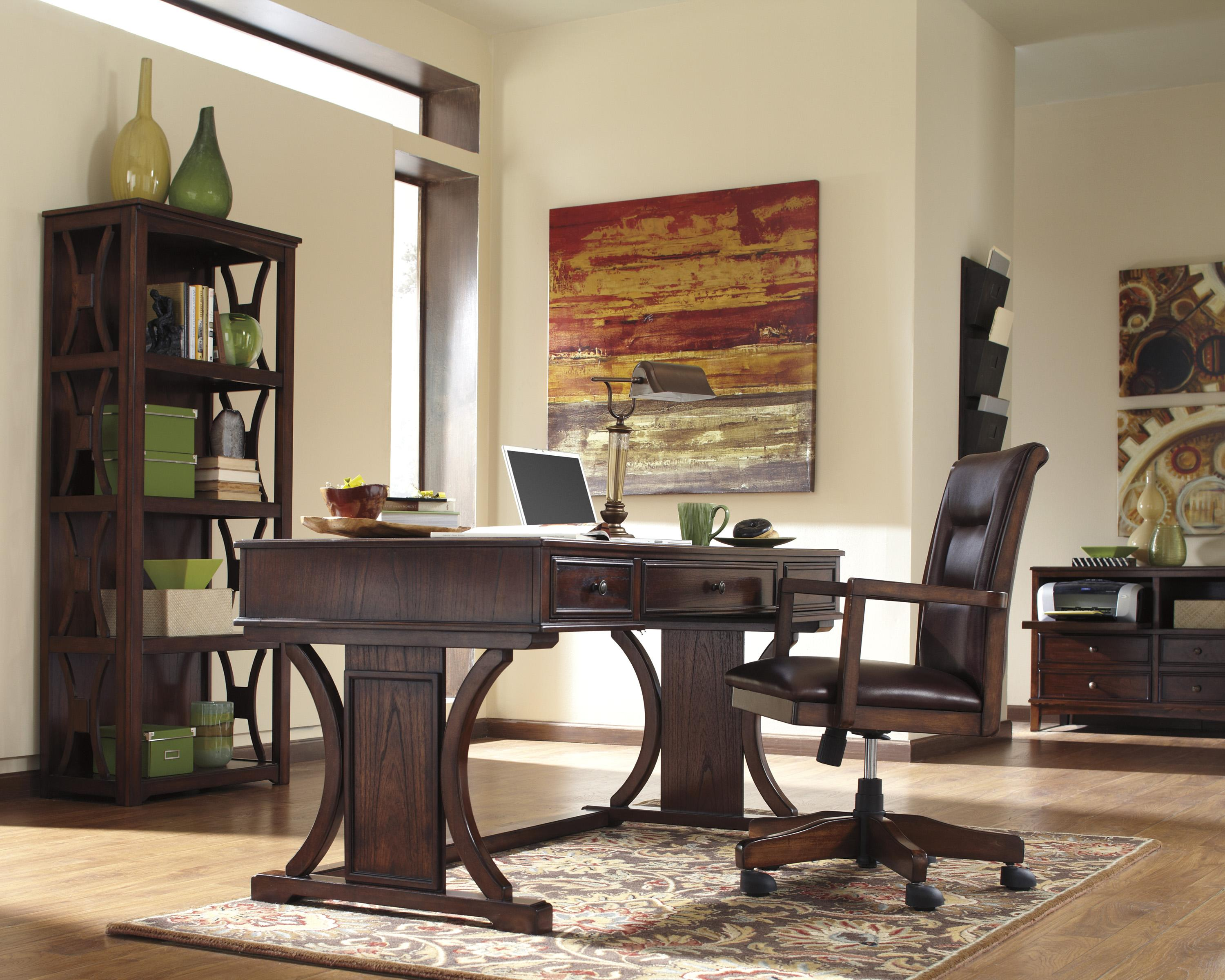 Signature Design By Ashley Devrik Home Office Desk With Drop Down Keyboard Tray Wayside Furniture Table Desks Writing
