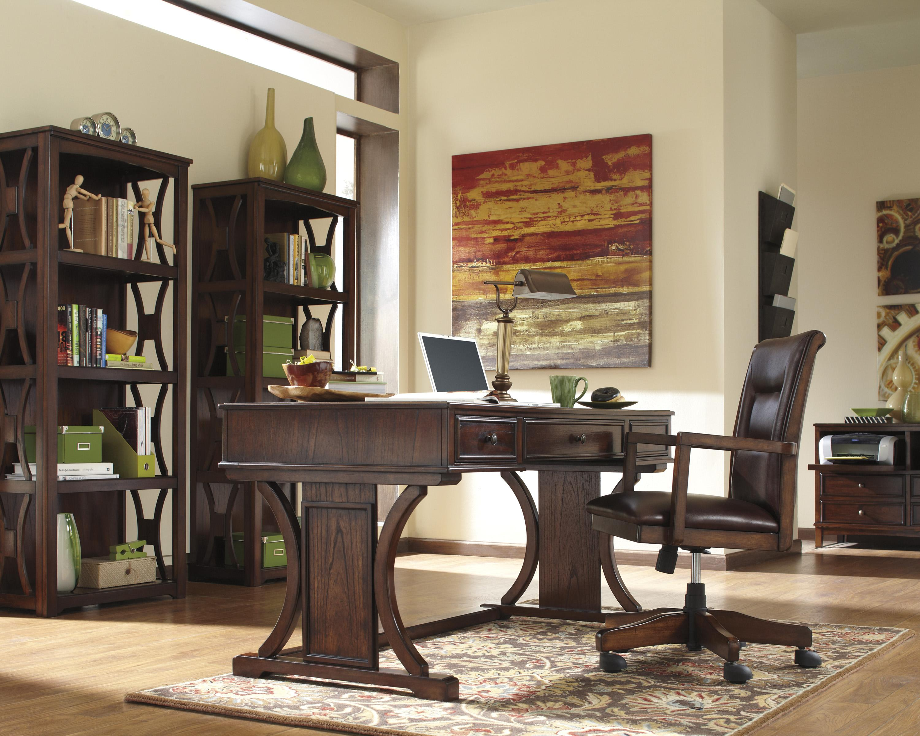 Signature Design By Ashley Devrik Home Office Desk With Drop Down Keyboard Tray Value City Furniture Table