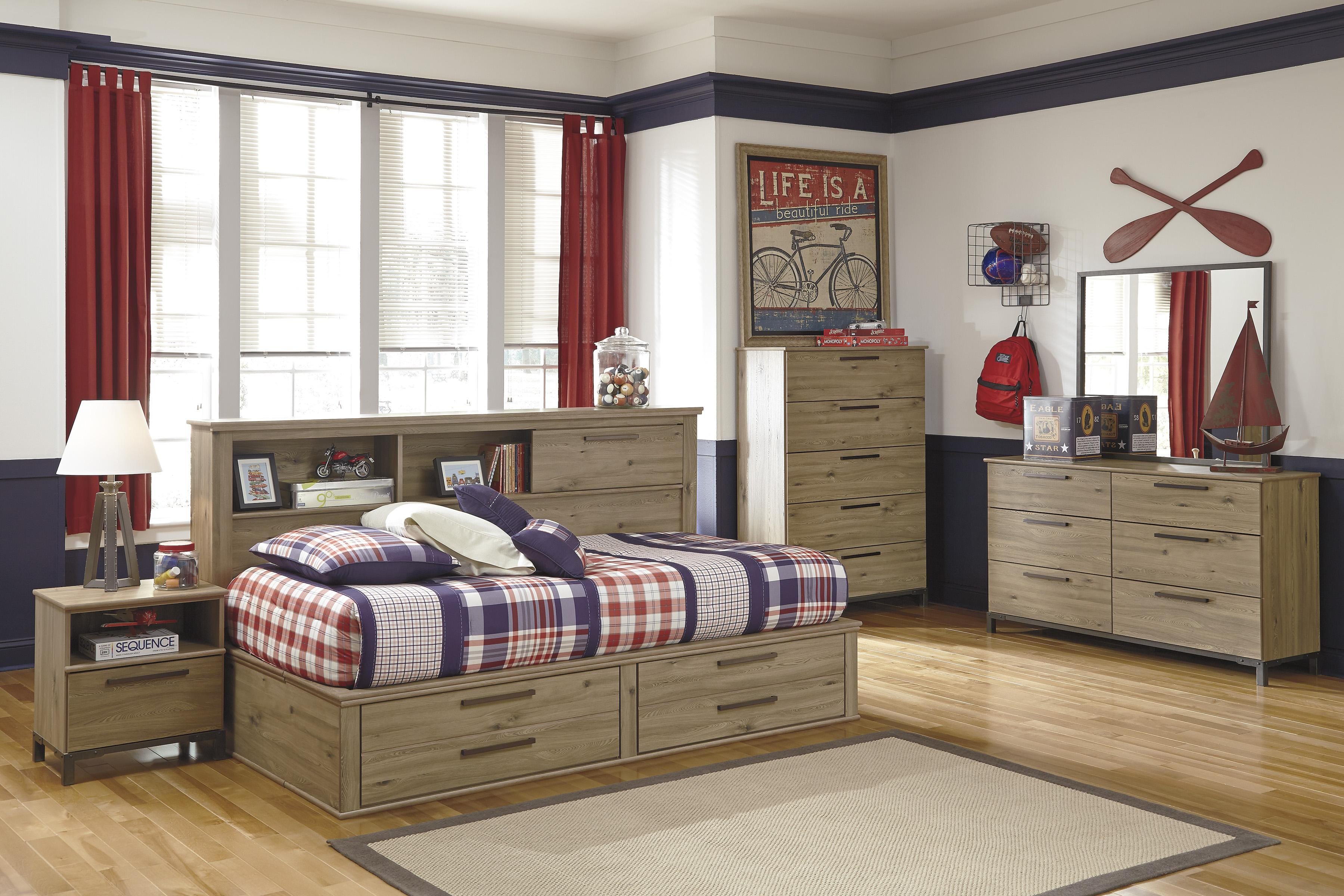 Signature Design by Ashley Dexifield Twin Bedroom Group - Item Number: B298 T Bedroom Group 4