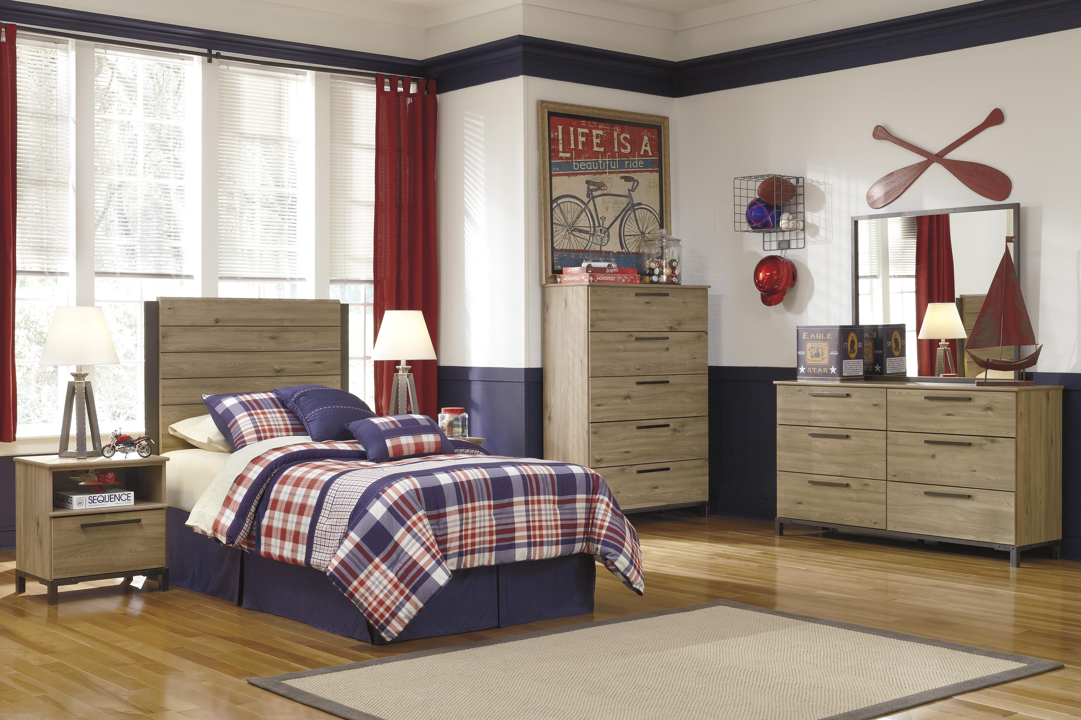 Signature Design by Ashley Dexifield Twin Bedroom Group - Item Number: B298 T Bedroom Group 2