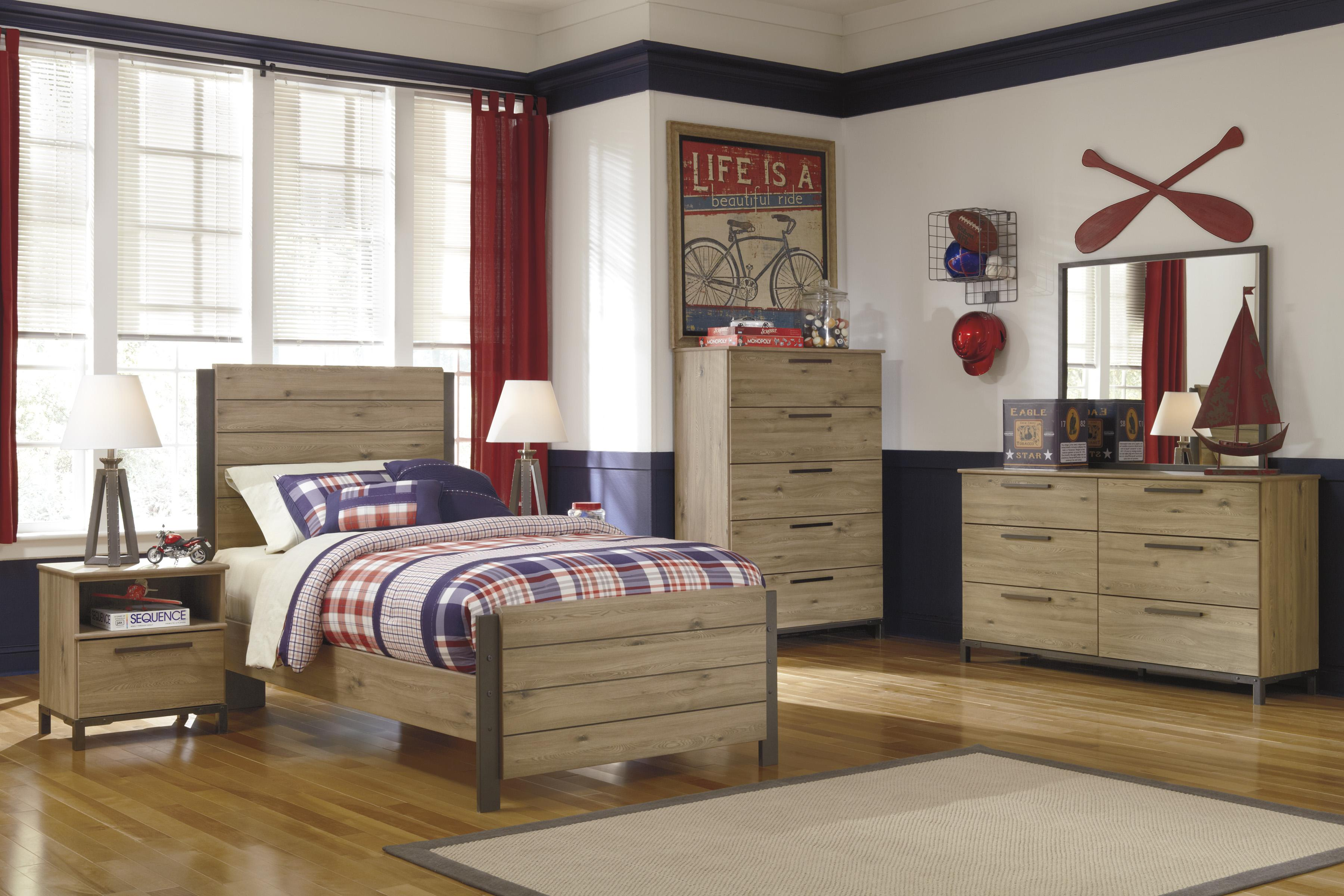 Signature Design by Ashley Dexifield Twin Bedroom Group - Item Number: B298 T Bedroom Group 1