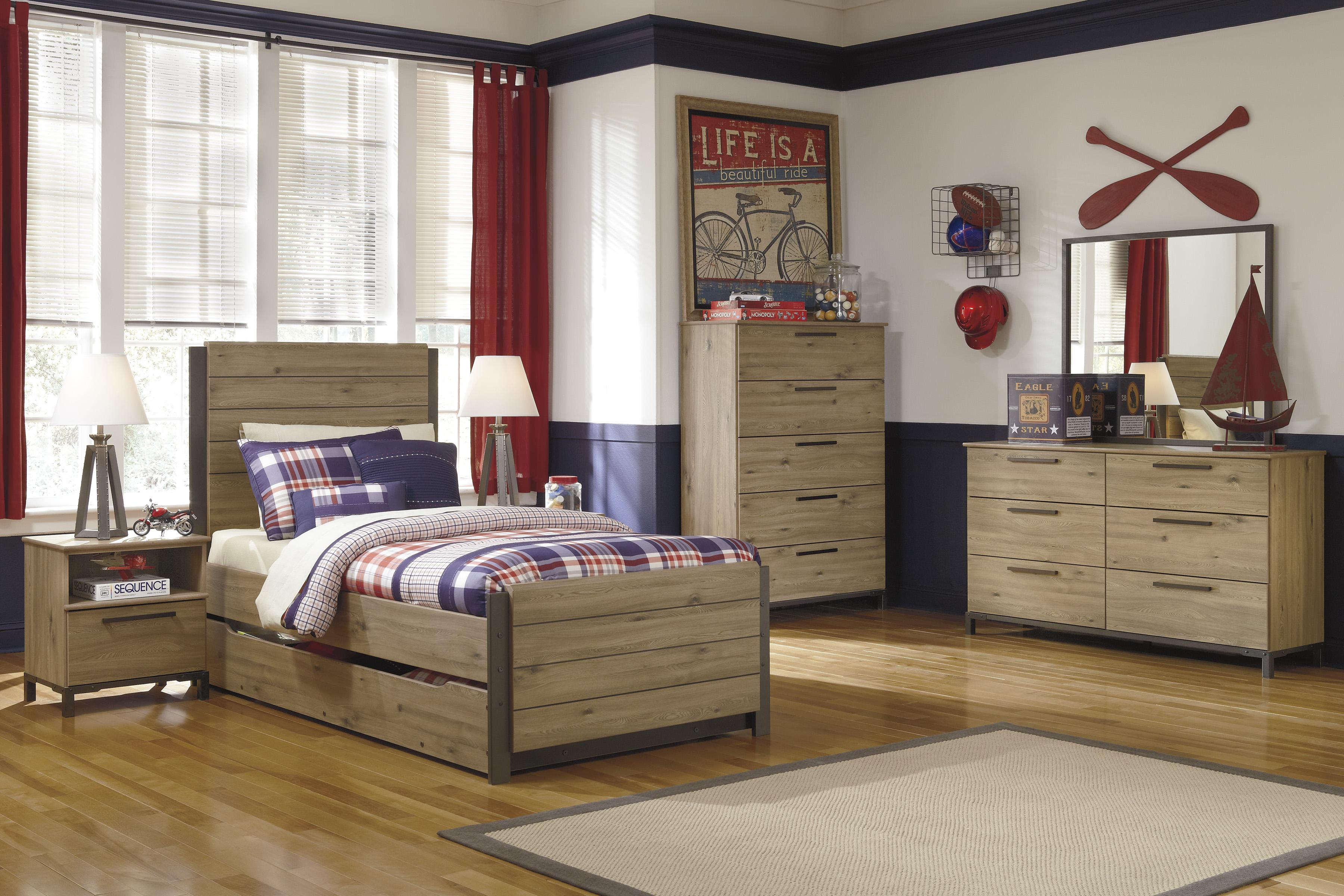 Signature Design by Ashley Dexifield Twin Bedroom Group - Item Number: B298 T Bedroom Group 3