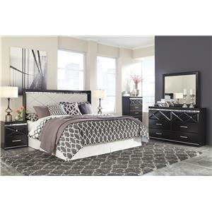 Signature Design by Ashley Fancee Queen Panel Headboard with Faux Crystals