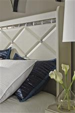 Textured Stipple with Diamond Pattern and Faux Crystal Accents on Headboard