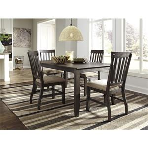 Signature Design by Ashley Dresbar 7-Piece Rectangular Dining Table Set