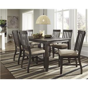 Signature Design by Ashley Dresbar 5-Piece Square Dining Room Counter Table Set