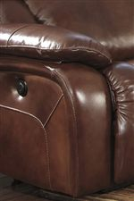 Sculpted Padded Arms and Exterior Handles for Power Recline