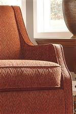 Sloping Track Arms on Accent Chair