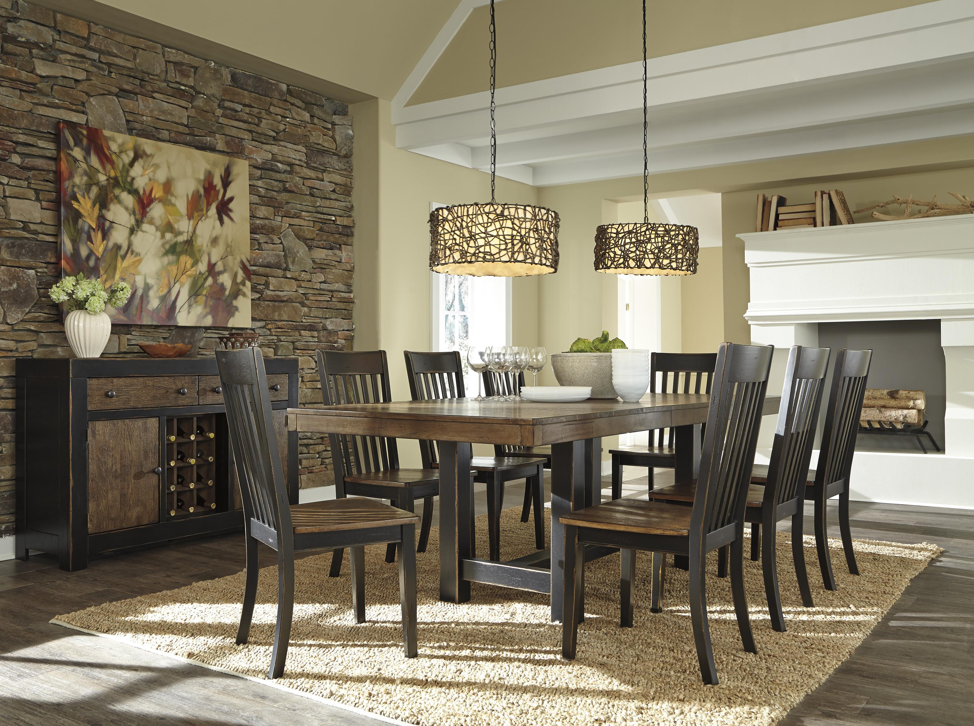 Signature Design by Ashley Emerfield Casual Dining Room Group - Item Number: D563 Dining Room Group 2