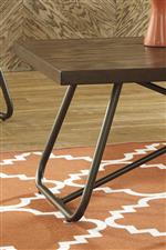 Tubular Metal Legs and Pine Veneer Table Tops