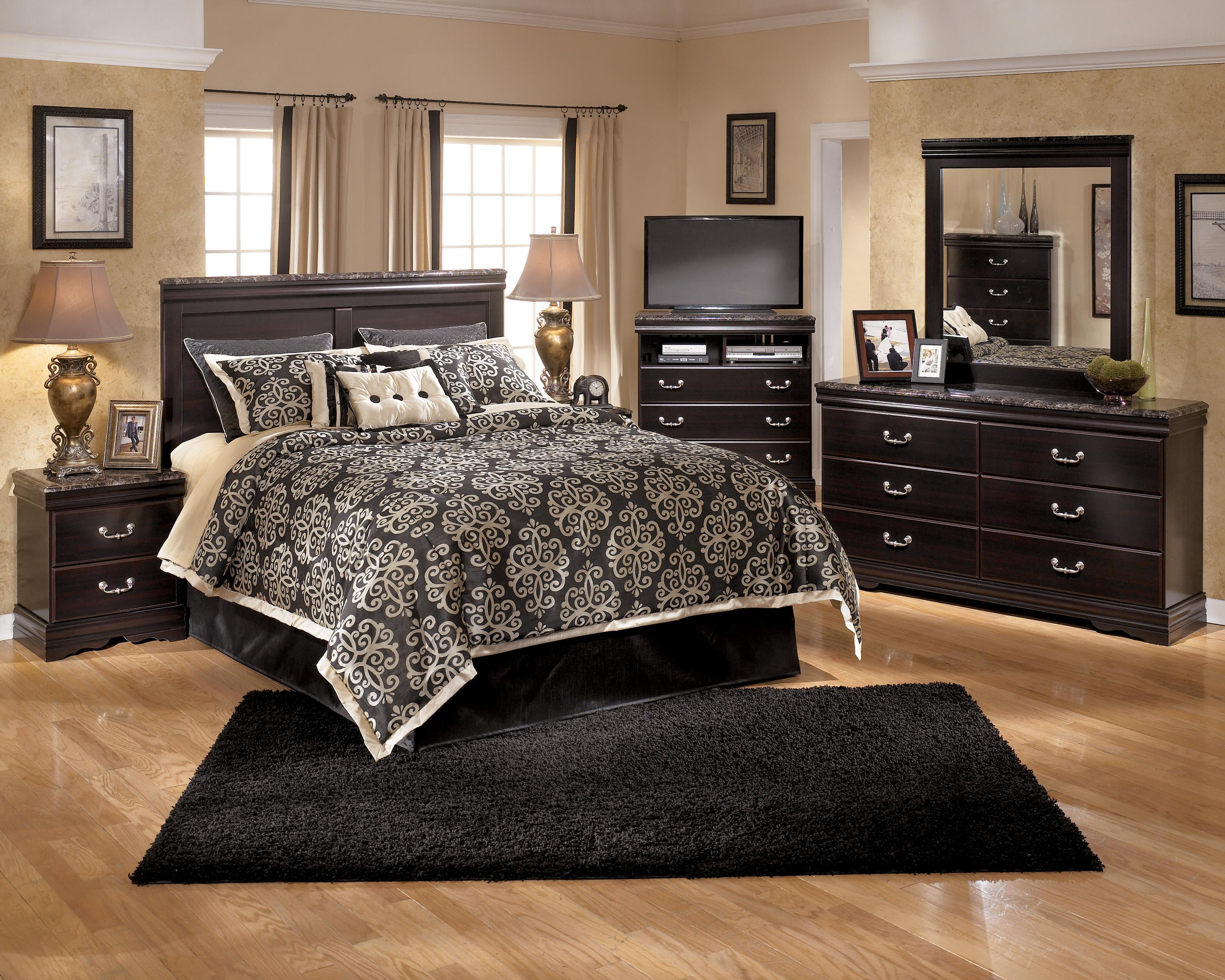 Signature Design By Ashley Esmarelda Queen Storage Bed With 2 Footboard  Drawers U0026 Faux Marble Trim | Michaelu0027s Furniture Warehouse | Platform  Beds/Low ...