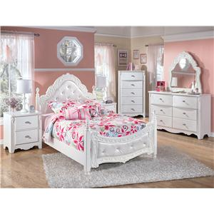 Signature Design by Ashley Exquisite Twin Sleigh Bed with Under Bed Trundle Panel