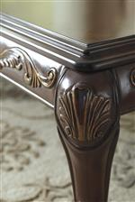 Ornate Details of Gold Finish Tipping