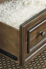 Fully Finished Drawers with Dovetail Construction and Ball Bearing Guides