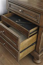 Concealed Felt-Lined Drawer in Night Stand