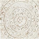 Medallion Carving in Antique White Finish