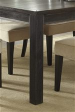 Block Legs and Dry Vintage Black Finish on Table