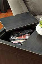 Storage Compartment on Chair Side End Table