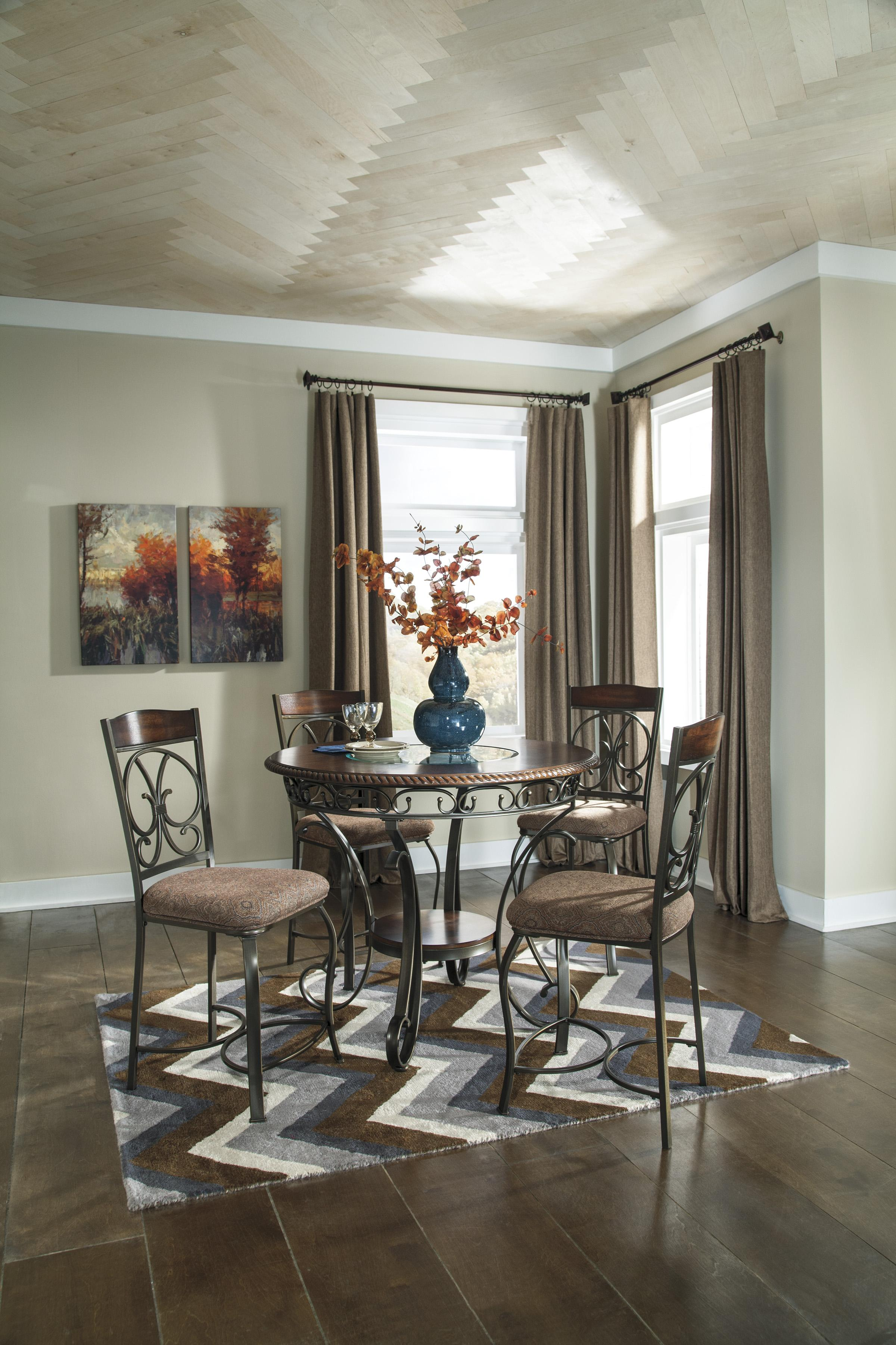 Ashley Furniture Kitchen Table Sets Signature Design By Ashley Furniture Glambrey Round Dining Table