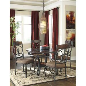 Signature Design by Ashley Glambrey Round Dining Room Counter Table with Metal Accents