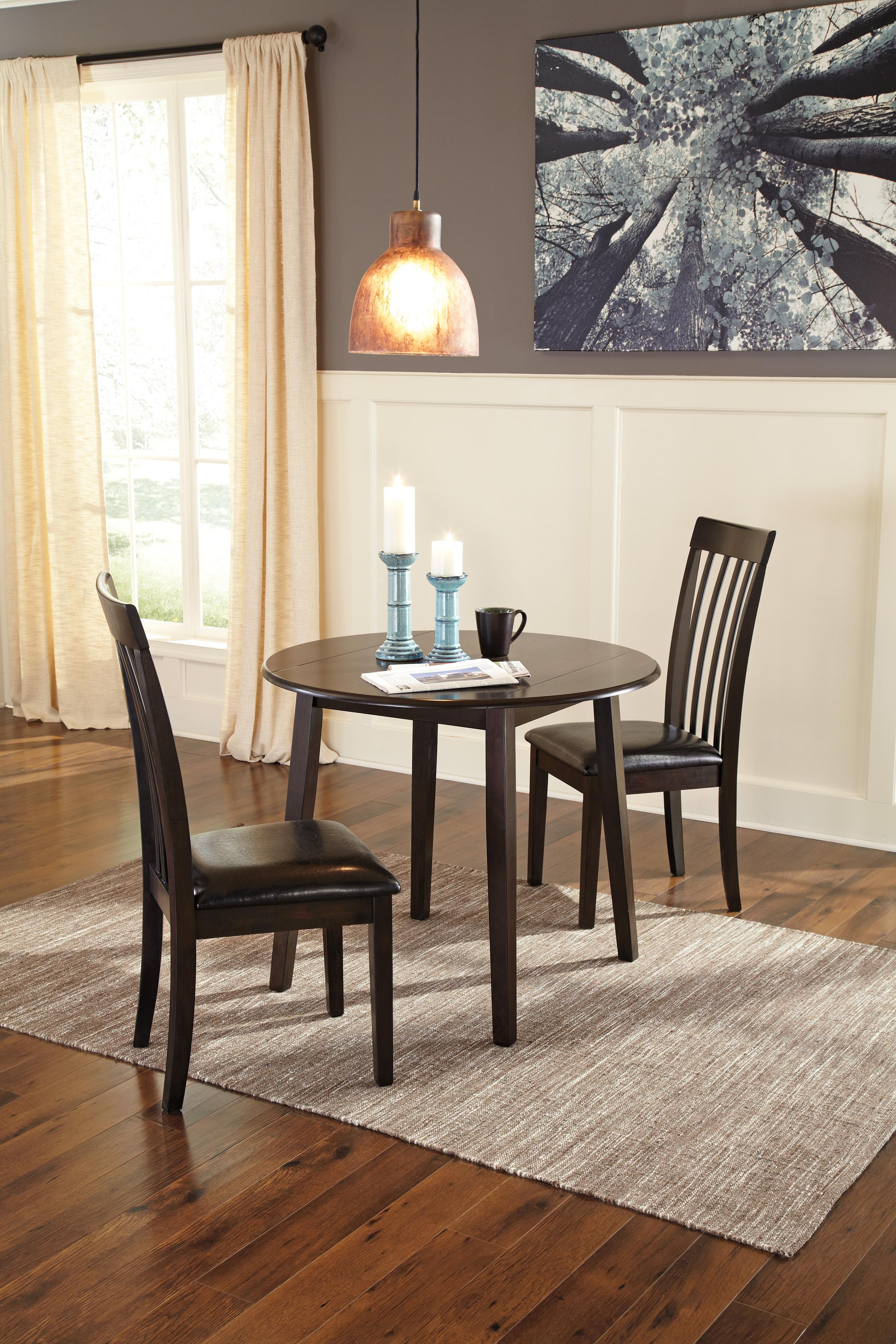 Signature Design By Ashley Hammis Round Dining Room Drop Leaf - Dining room tables with leaves