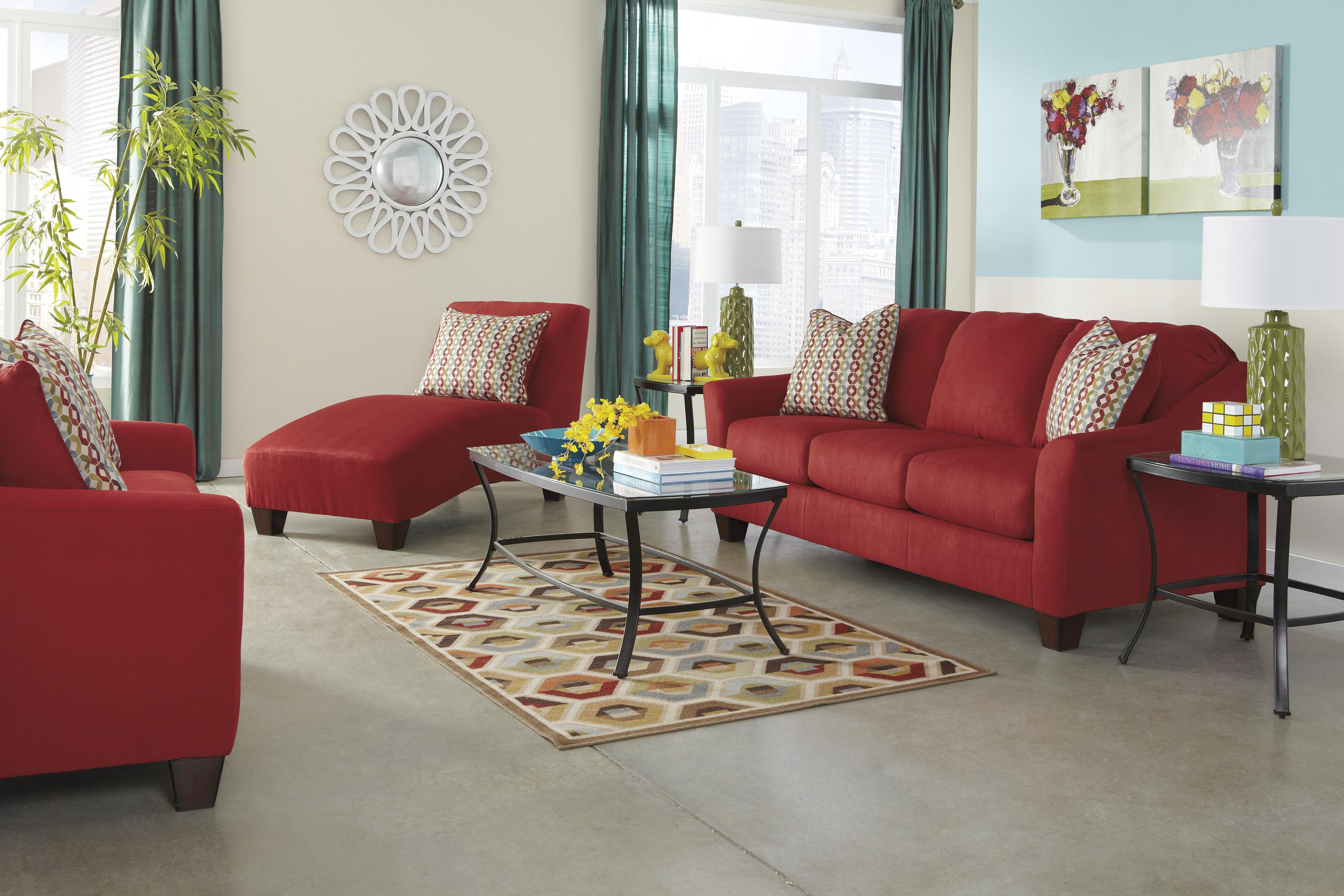Signature Design by Ashley Hannin - Spice Stationary Living Room Group - Item Number: 95801 Living Room Group 6