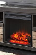Optional Electric Fireplace Available