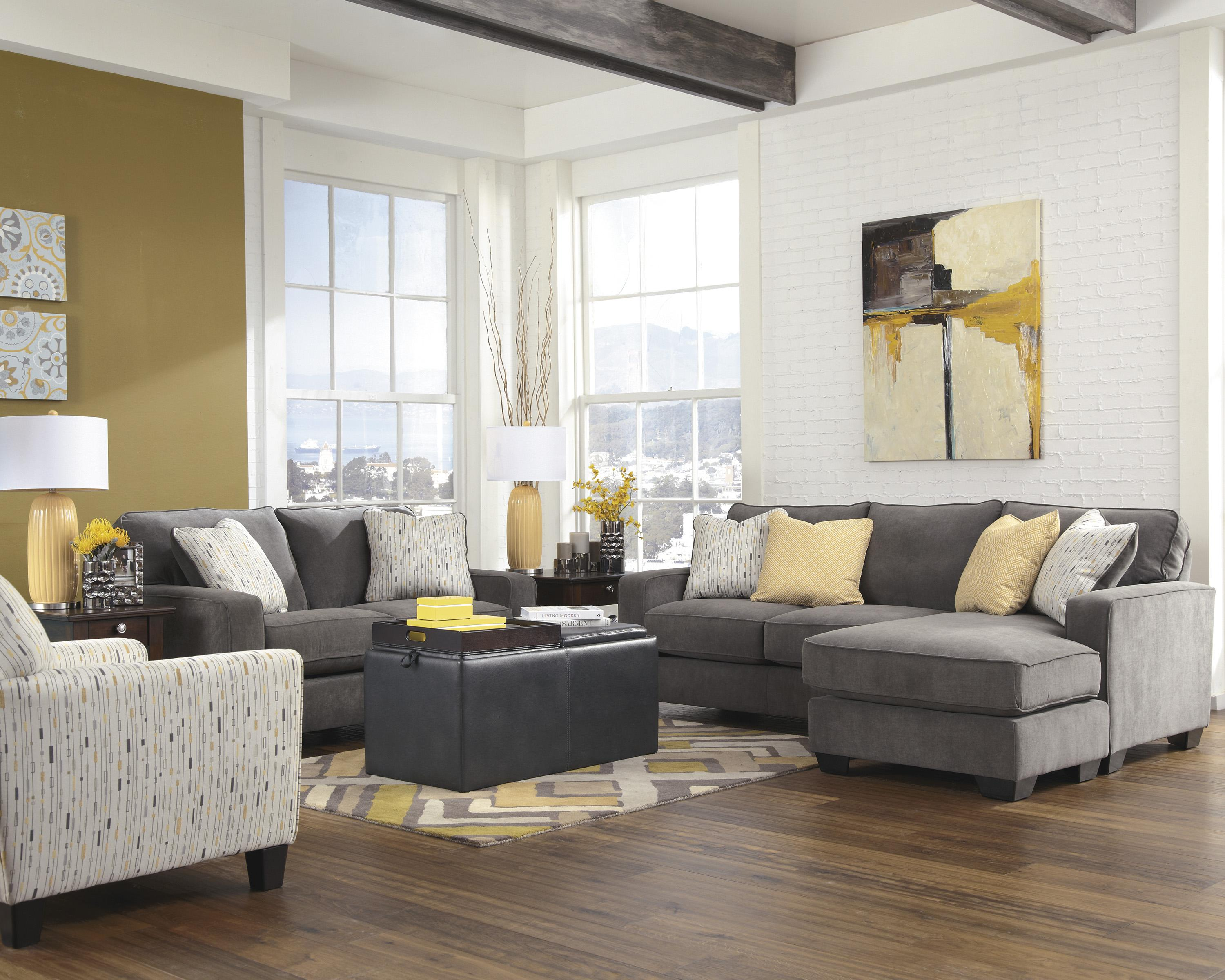 Signature Design by Ashley Hodan - Marble Stationary Living Room Group - Item Number: 79700 Living Room Group 4