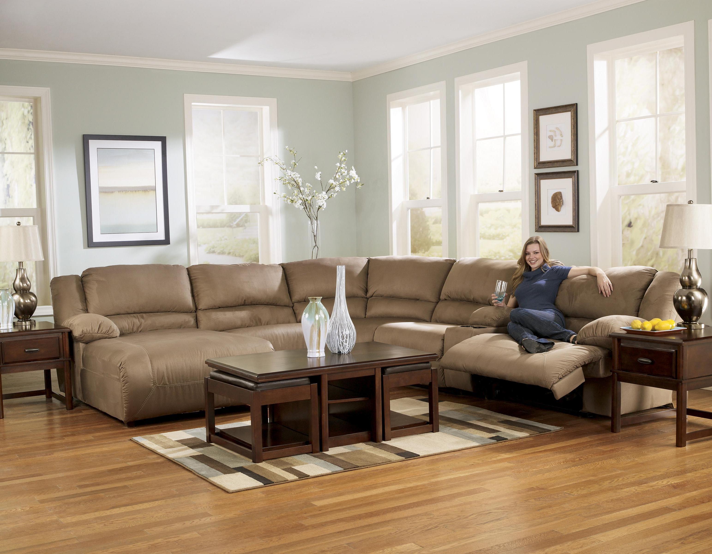 Signature Design by Ashley Hogan Mocha 2 Seat Reclining Sofa