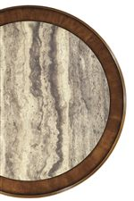 Wood and Faux Stone Center Table Tops