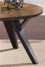 Angled Legs with Dark Brown Finish. Medium Brown Wood Veneer Table Tops.