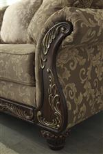 Ornate Trim with Gold Finish Tipping