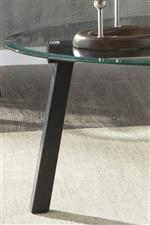 Modern Steel Bases and Clear Glass Tops