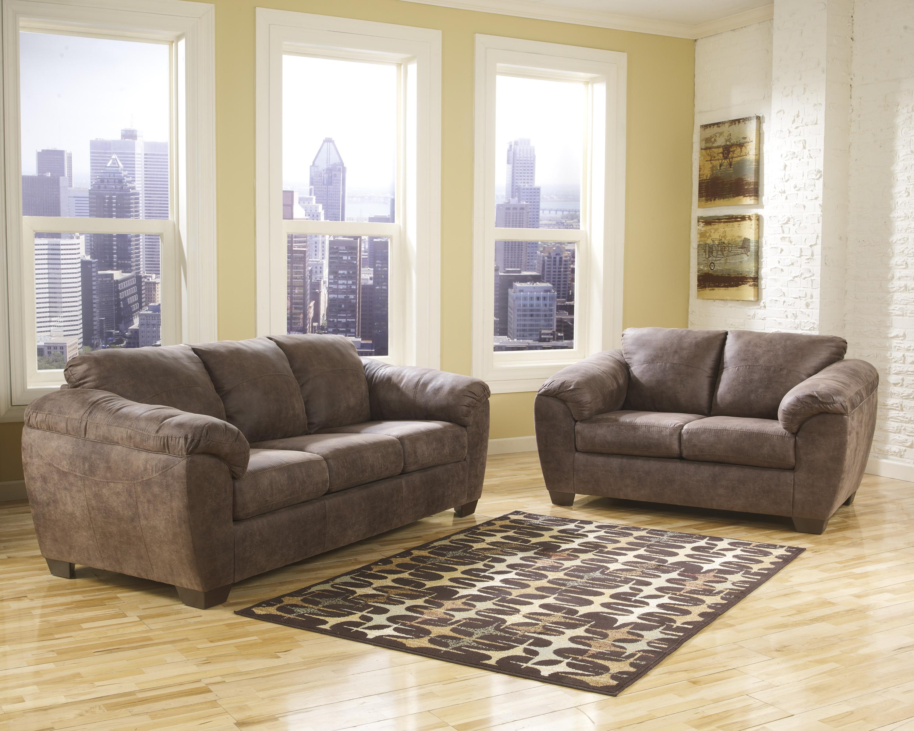 Ashley (Signature Design) Jathan - Mocha Stationary Living Room Group - Item Number: 43600 Living Room Group 1