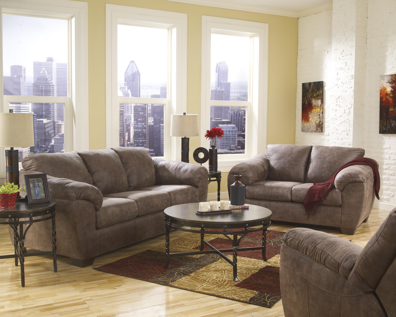 Ashley (Signature Design) Jathan - Mocha Stationary Living Room Group - Item Number: 43600 Living Room Group 3