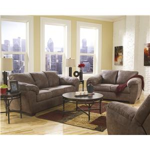 Ashley (Signature Design) Jathan - Mocha Stationary Living Room Group