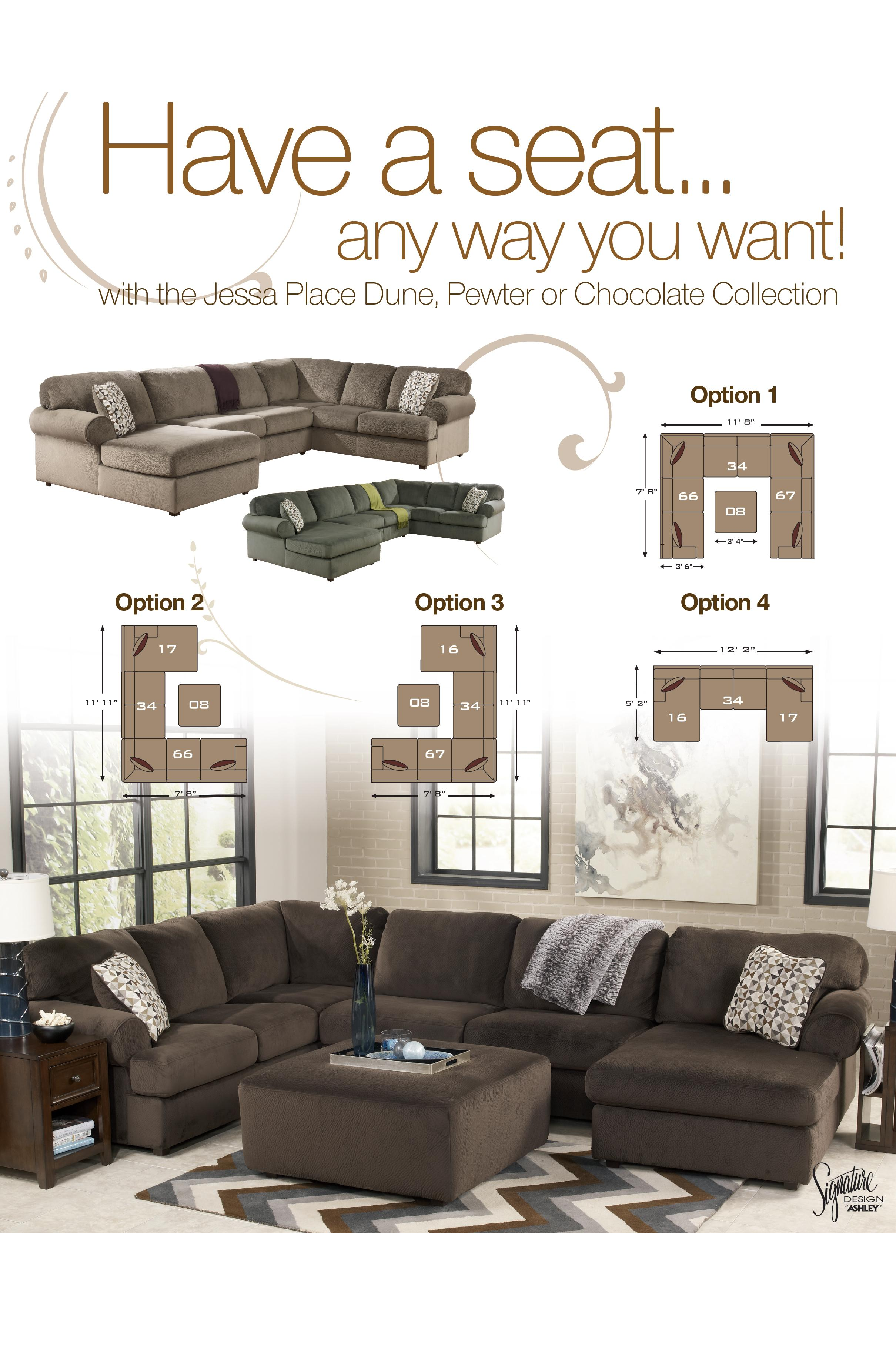 watch furniture ashley place dune sectional jessa youtube review