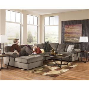 Signature Design by Ashley Jessa Place - Dune Casual Sectional Sofa with Right Chaise