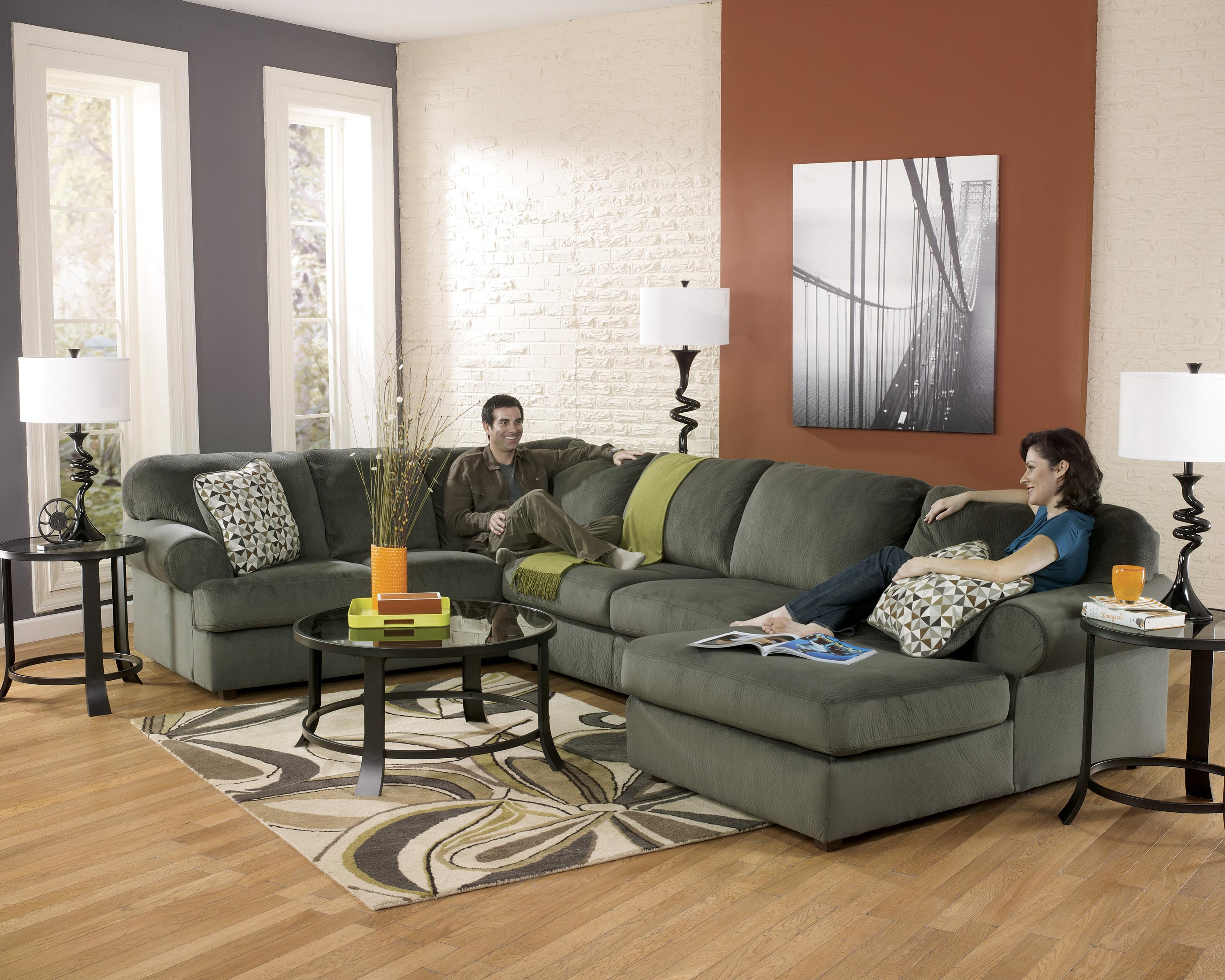 Signature Design By Ashley Jessa Place   Pewter Casual Sectional Sofa With  Right Chaise | Furniture Fair   North Carolina | Sofa Sectional  Jacksonville, ...