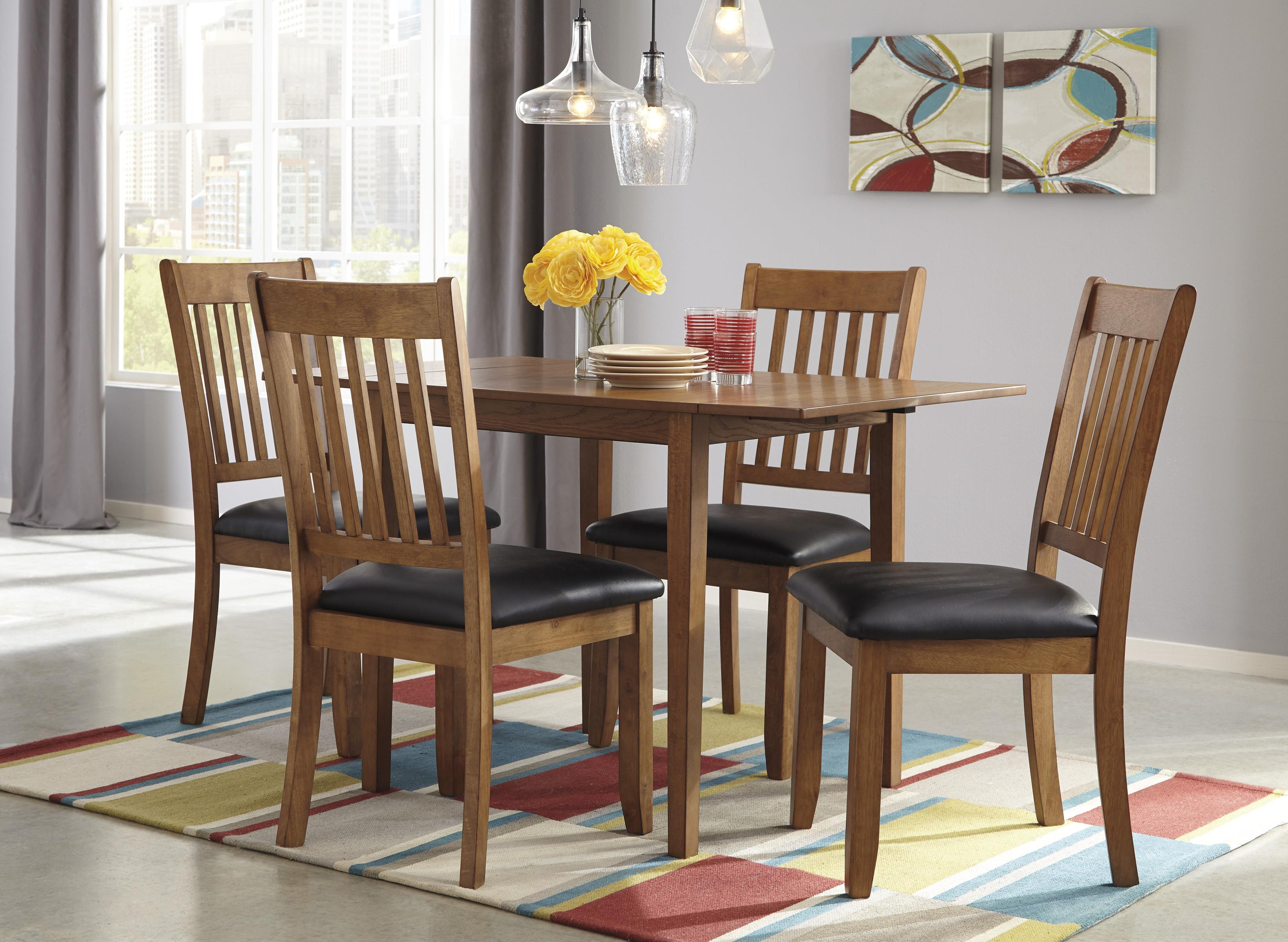 Signature Design by Ashley Joveen 3-Piece Drop Leaf Dining Table ...