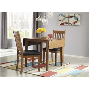 Signature Design by Ashley Joveen Dining Room Table w/ Oak Veneers and Drop Leaf